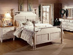 Wilshire Poster Bed (Antique White Finish)