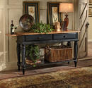 Wilshire Sideboard Table (Pine & Rubbed Black Finish)