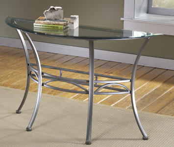 Abbington Console Table (Dark Pewter & Glass Finish) - [4885OTS]