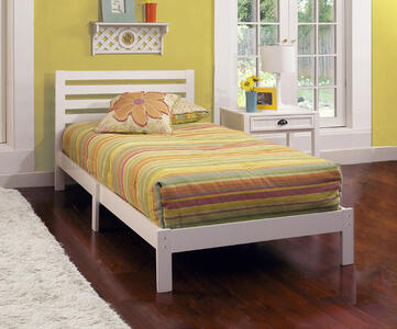 Aiden Twin Bed (White Finish) - [1723-330]