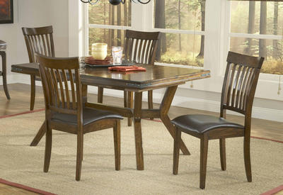 Arbor Hill Dining Set (Colonial Chestnut Finish) - [4232DTBC]