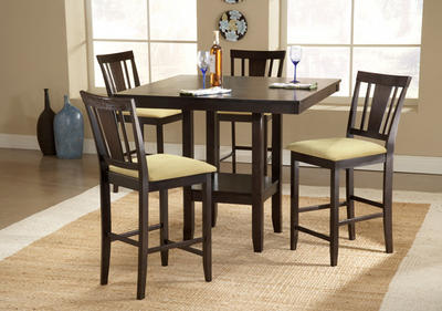 Arcadia Counter Height Dining Set (Espresso Finish) - [4180DTBSG]