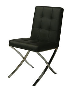 Aria Side Chair (Chrome & Black Finish) - [AR-110-CH-979]