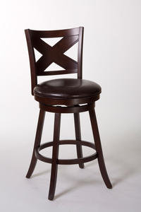 Ashbrook Swivel Bar Stool (Cherry & Brown Finish) - [5209-830]