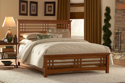 Avery Bed (Oak Finish) - [B51A9]