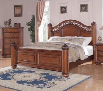 Barkley Square Bed (Warm Oak Finish) - [BQ600QB]