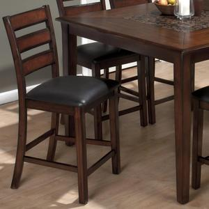 Baroque Brown Slat Back Pub Counter Height Stool - Set of 2 - [697-BS923KD]