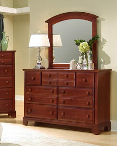 Hamilton Franklin Triple Dresser (Cherry Finish)