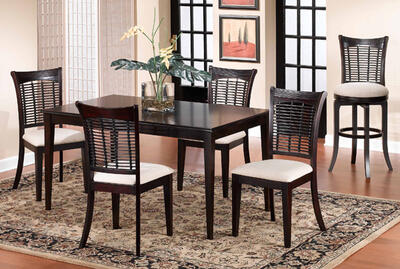 Bayberry Dining Set (Dark Cherry Finish) - [4783DTBCRCT]