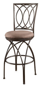 Big & Tall Metal Crossed Legs Bar Stool (Bronze) - [586-851]