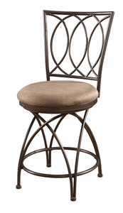 Big & Tall Metal Crossed Legs Counter Stool (Bronze) - [586-918]