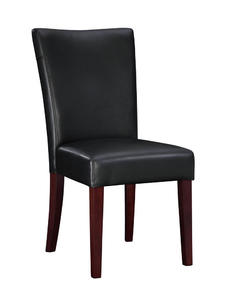 Bonded Leather Parsons Chair (Black) - [273-833]