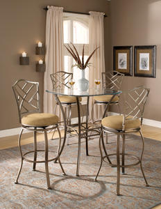 Brookside Bar Height Bistro Table (Brown Powder Coat Finish)