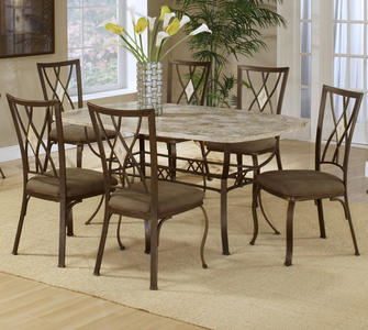 Brookside Dining Table (Brown Powder Finish)