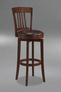 Canton Swivel Counter Stool with Vinyl Seat (Brown Finish) - [4166-829]