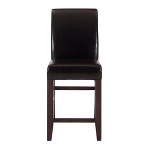 Carlsbad Cherry Chestnut Bonded Leather Counter Stool - Set of 2 - [888-BS485KD]