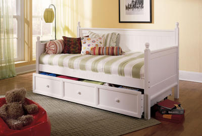 Casey Wood Cottage Daybed in White - [B51C43]