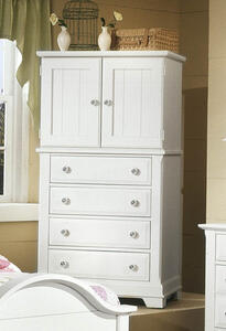 Cottage Collection Vanity Chest (Snow White Finish)