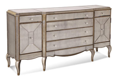 Collette Sideboard (Antique Mirror & Gold Finish) - [D1267-576]