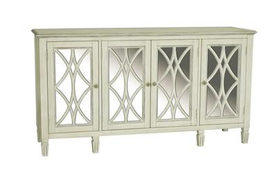 Florence Console (Mirrored & White) - [730064]