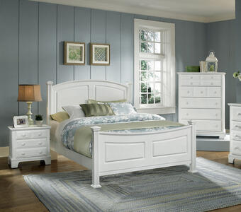 Hamilton Franklin Panel Bed (Snow White Finish)