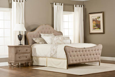 Jefferson Bed (Antique Beige Fabric) - [1206BQR]