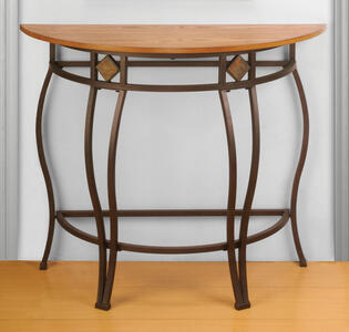 Lakeview Console Table (Brown & Medium Oak  Wood Finish) - [4264-887]
