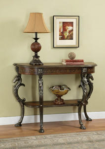 Masterpiece Demilune Console Table (Hand-Painted) - [416-225]