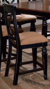 Northern Heights Counter Stool - Set of 2 Stools (Black & Honey Finish) - [4439-822]
