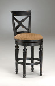 Northern Heights Swivel Counter Stool (Black & Honey Finish) - [4439-826]