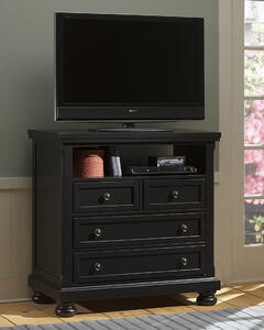 Reflections Entertainment Center (Ebony Finish) - [534-114]