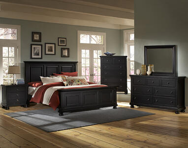 Reflections Mansion Bedroom Set (Ebony Finish)
