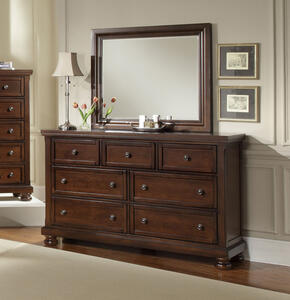 Reflections Triple Dresser (Dark Cherry Finish)