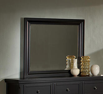 Reflections Triple Dresser Landscape Mirror (Ebony Finish) - [534-446]