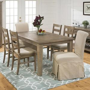 Slater Mill Pine 7 Piece Dining Set - [941-72+6x941-538KD+CUSHION-941]