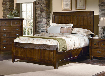 Timber Mill Bed (Pine Finish) - [BB58-559]