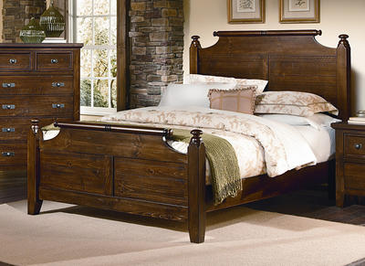 Timber Mill Broomhandle Bed (Pine Finish) - [BB58-557]