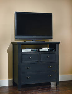Timber Mill Media Chest (Charcoal Finish) - [BB56-114]
