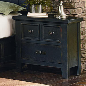 Timber Mill Night Stand (Charcoal Finish) - [BB56-226]