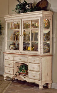 Wilshire Buffet And Hutch (Antique White Finish) - [4508BH]