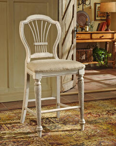 Wilshire Counter Stool - Set of 2 (Antique White Finish) - [4508-806]