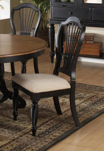 Wilshire Side Chair - Set of 2 (Rubbed Black Finish) - [4509-802]