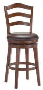 Windsor Swivel Counter Stool (Brown Cherry Finish) - [4722-826]