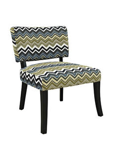 Zig Zag Armless Chair (Black) - [383-494]