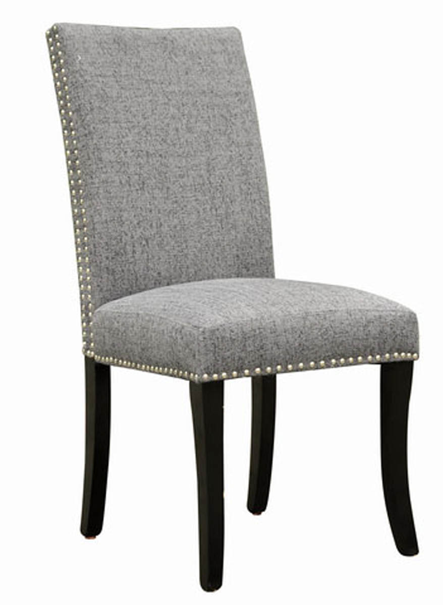 Accent Nail Side Chair Set Of 2 Dark Gray Lcdesich