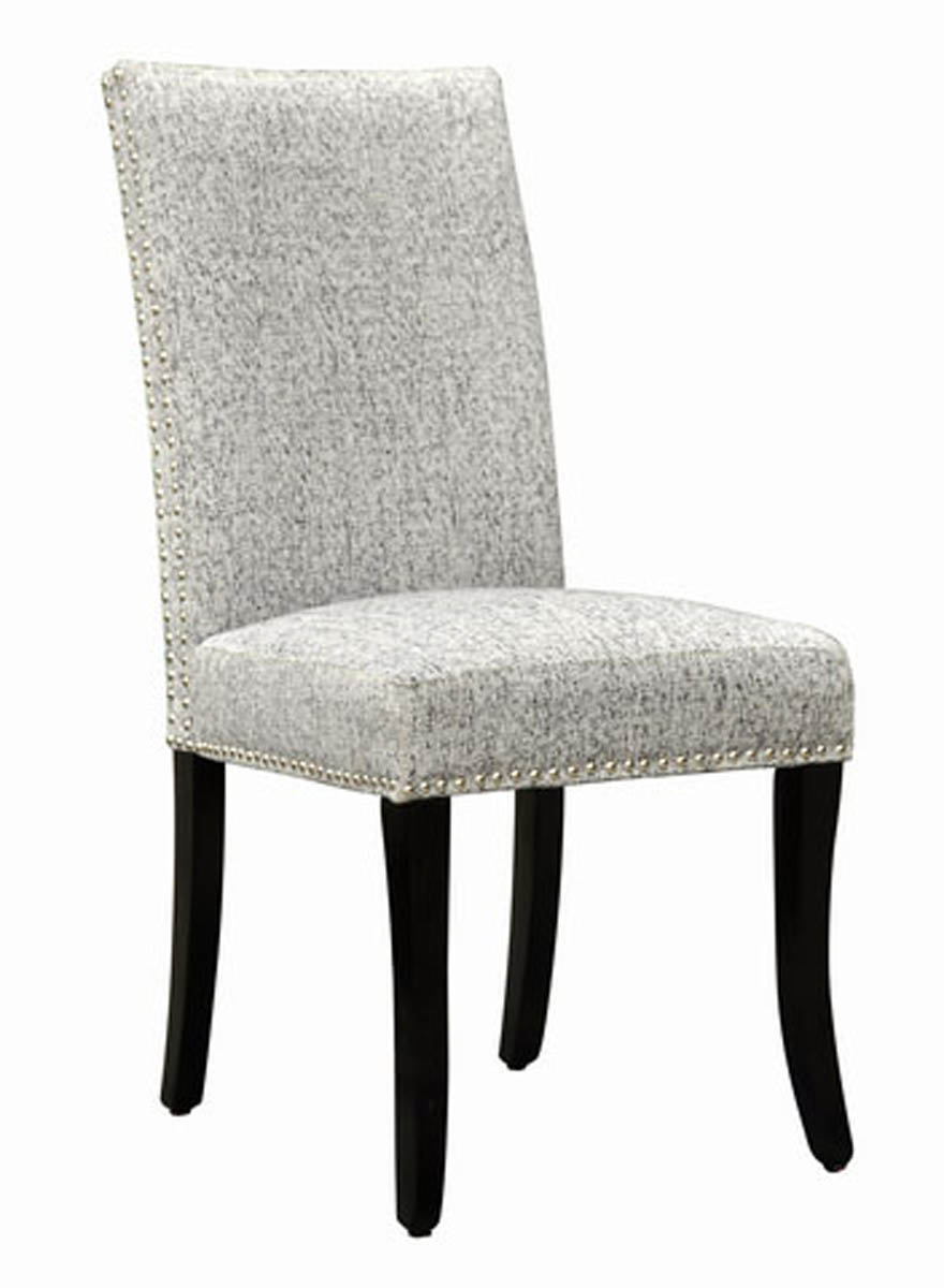 Accent Nail Side Chair Set 2 Light Gray [LCDESIAS