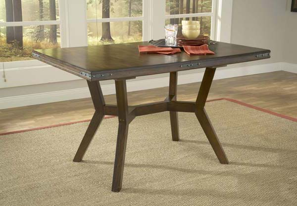 arbor hill extension dining table colonial chestnut finish 4232