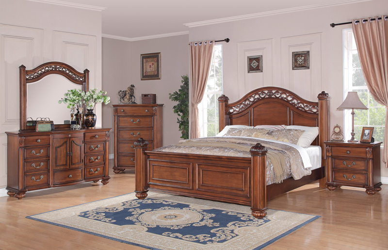 barkley square bedroom set warm oak finish bq600qb