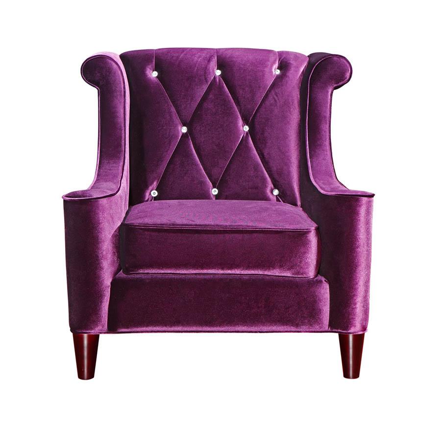 Purple velvet chair - Barrister Chair Purple Velvet Crystal Lc8441purple