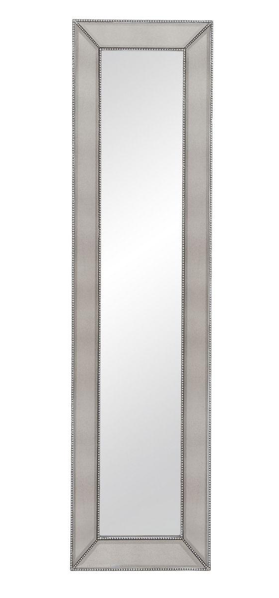 beaded leaner mirror silverleaf 20 x 80h m3591bec